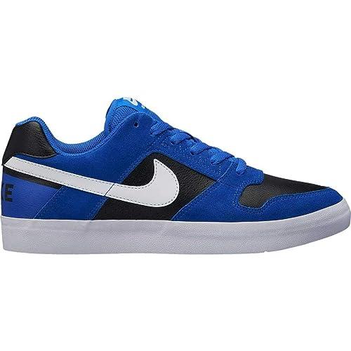 91dabd838ccc Nike Men s Sb Delta Force Vulc Hyper Royal Blk-Wht Skateboarding Shoes-7 UK
