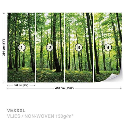 Blumen Wald Natur FOTOTAPETE FOTOTAPETEN WANDBILD