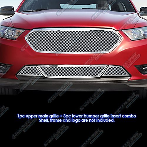 - APS Compatible with 2013-2015 Ford Taurus with Honeycomb Bumper Stainless Mesh Grille Combo S18-T83217F