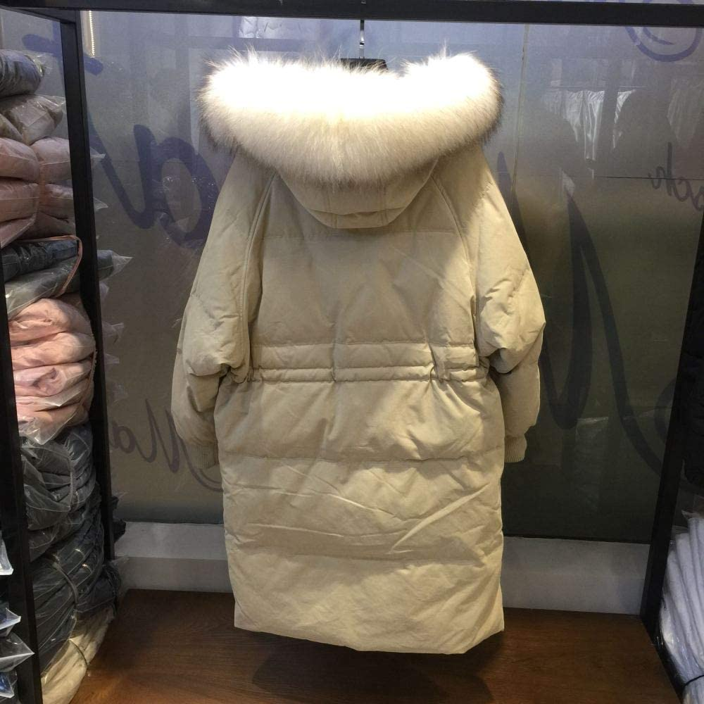MHDE Cappotto Invernale Caldo con Cappuccio da Donna Giacche Lunghe da Donna Casual Capispalla da Donna in Cotone Addensato Capispalla Taglie Forti Beige