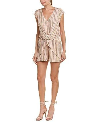 67b97859040a Amazon.com  BCBGeneration Women s Overlap Pleated Romper  Clothing