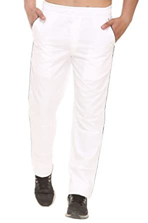search for original hot-selling highly coveted range of Bana Clothing Men's White Cotton Track Pants (Large): Amazon ...