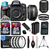 Holiday Saving Bundle for D610 DSLR Camera + 18-140mm VR Lens + 35mm 1.8G DX Lens + 2yr Extended Warranty + 32GB Class 10 Memory + Macro Filter Kit + 16GB Class 10 - International Version