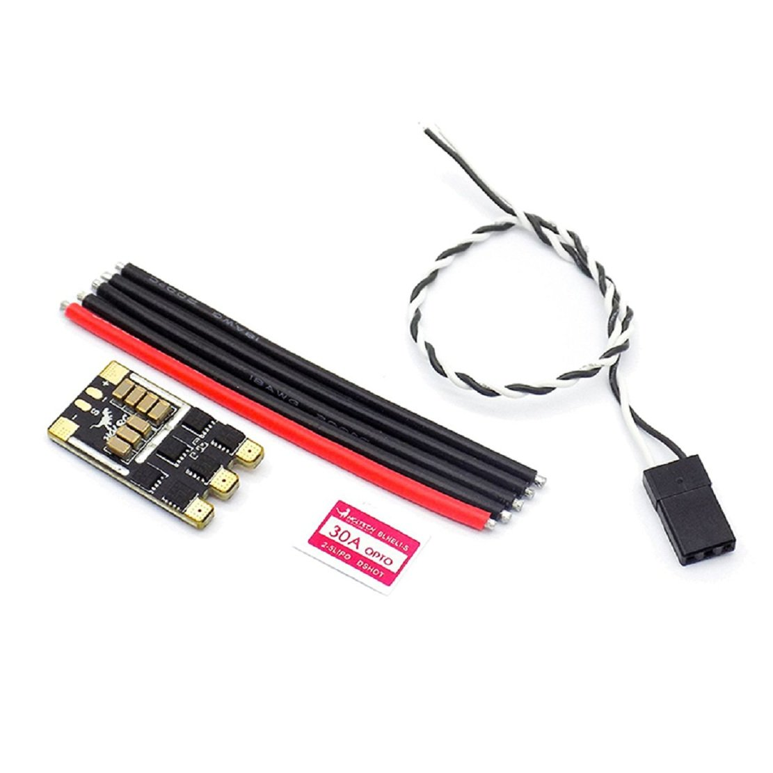 HGLRC Blheli/_S 30A ESC 2-5S LiPo Battery Input Dshot600 Brushless Motor Electronic Speed Controller for FPV Multicopter Quadcopter 4PCS