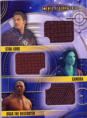 2014 Guardians of the Galaxy Trading Card Set Wardrobe Cosmic Strings Trio CST-1