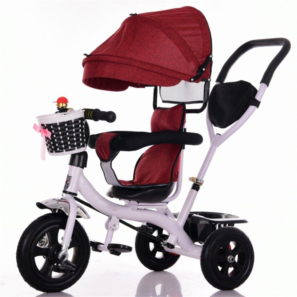 KANGR-子ども用自転車 三輪車ベビーキャリッジバイク子供おもちゃトロリーチタンホイール/泡ホイール自転車3ホイール、回転可能な座席(ボーイ/ガール、1-3-5歳) ( 色 : B type ) B07BTZPYN7B type
