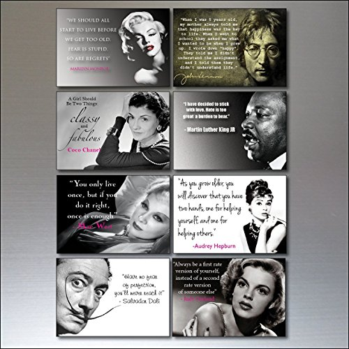 8 Inspirational Quotes Vintage Fridge Magnets no1