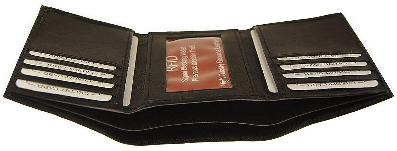 13d673d4c55d Amazon.com: RFID Improving Lifestyles Mens Leather Wallet Trifold ...