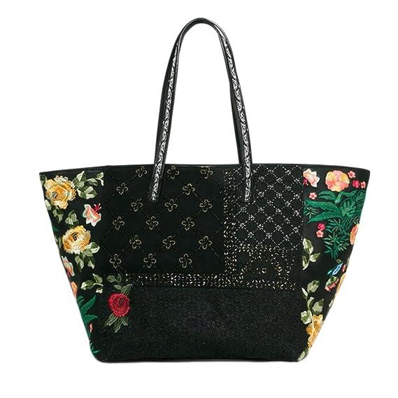 c6c8e2916 Image Unavailable. Image not available for. Colour: Desigual Women's Black  Martinika Sporty Floral Bag