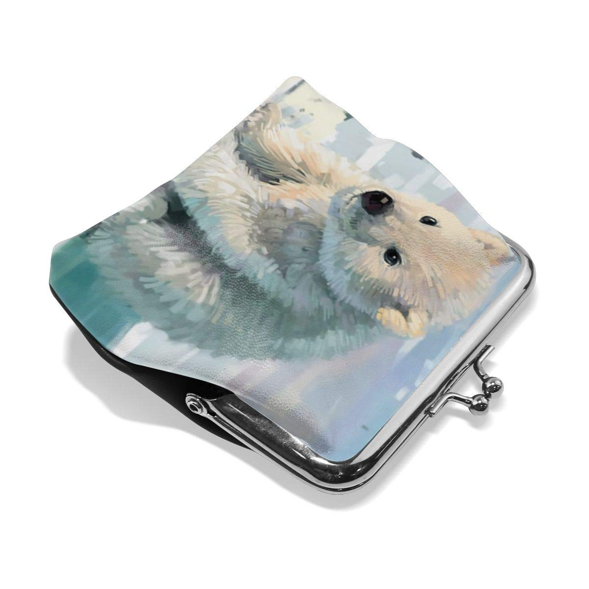 Exquisite Cute Animal Polar Bear Baby Key Buckle Coin Purse For Womens