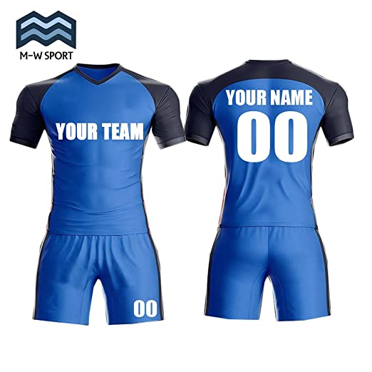 M-W Sports Custom Soccer Jersey Slim Fit Set For Men -Make Your Own Team  Name 767359cc1
