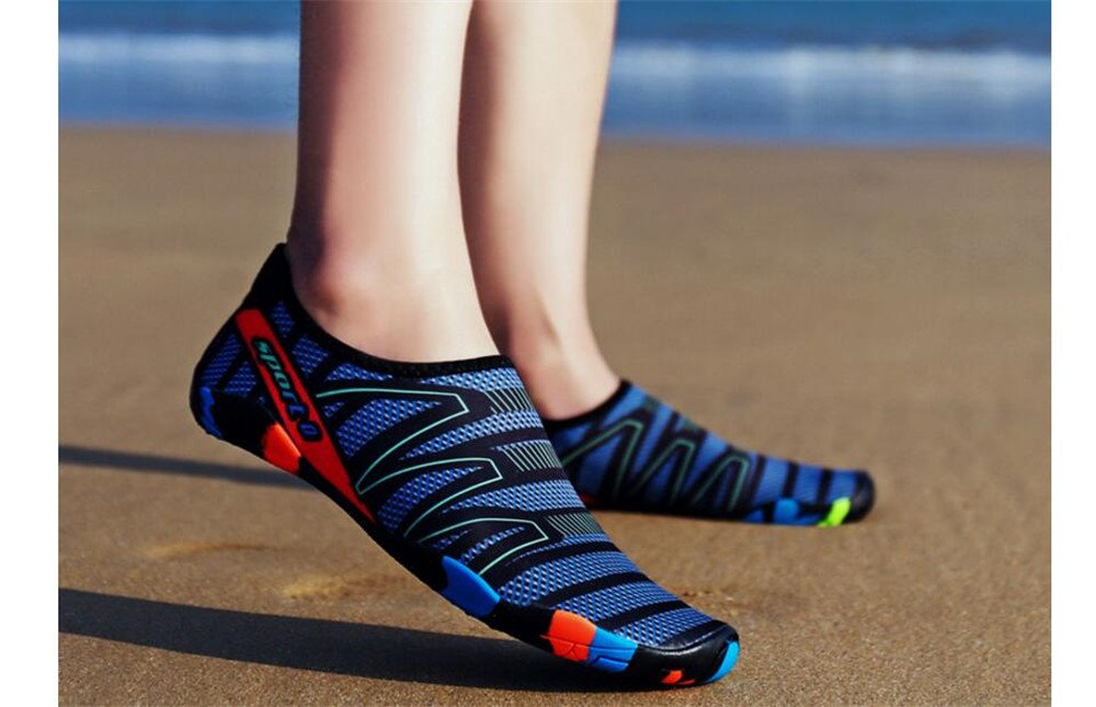 Cloudless Womens and Mens Water Shoes Barefoot Quick-Dry Aqua Socks B07FC631C9 35/4 B(M) US Women / 3 D(M) US Men|Blue2