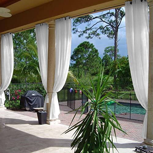 cololeaf Indoor Outdoor Sheer Curtain