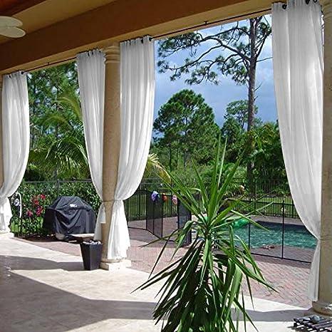 cololeaf Indoor Outdoor Sheer Curtain Patio| Porch| Gazebo| Pergola |  Cabana | Dock - Amazon.com : Cololeaf Indoor Outdoor Sheer Curtain PatioPorch