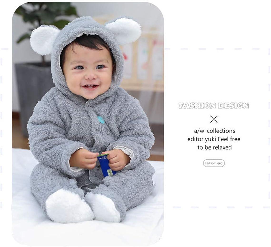 Morbuy Traje de Nieve Beb/é Reci/én Nacido Espesar Ropa de Invierno Footed Peleles Mameluco con Capucha C/álido Monos para Ni/ños Ni/ñas