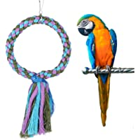 Safely Bird Toy, Bite-Resistant Non-Toxic Durable Bird Swing Toy, Climb for Stand Entertainment Exercise(Round Large)