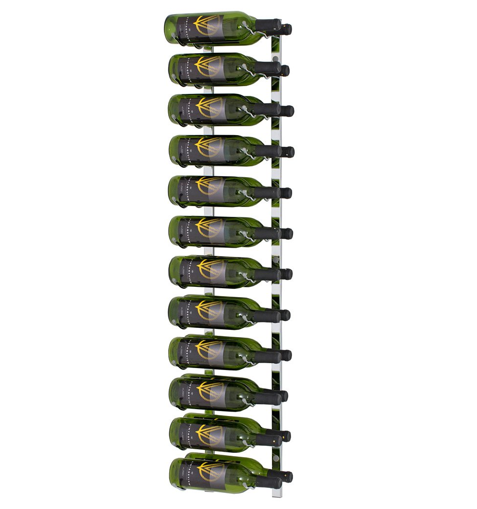 24 Bottle Vintage View Wall-Mounted Wine Rack (WS42 - 4 Foot), Chrome Plated