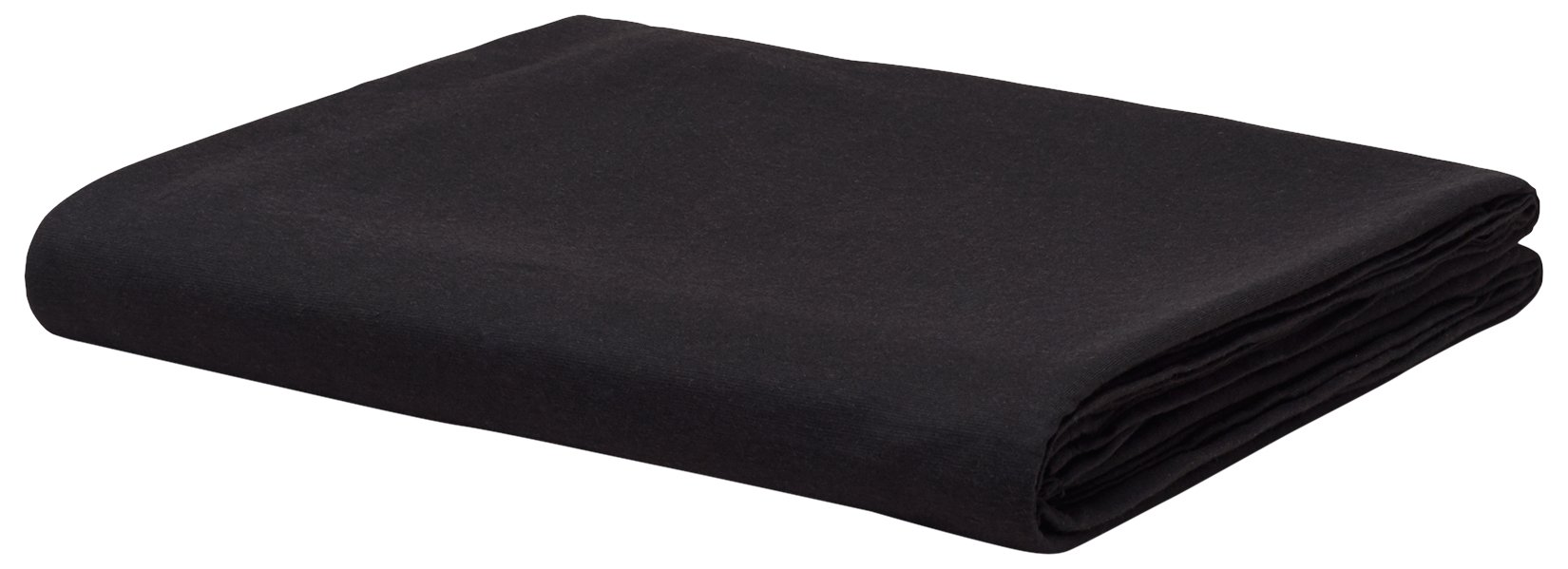 Calvin Klein Home Modern Cotton Harrison Flat Sheet, Full, Black