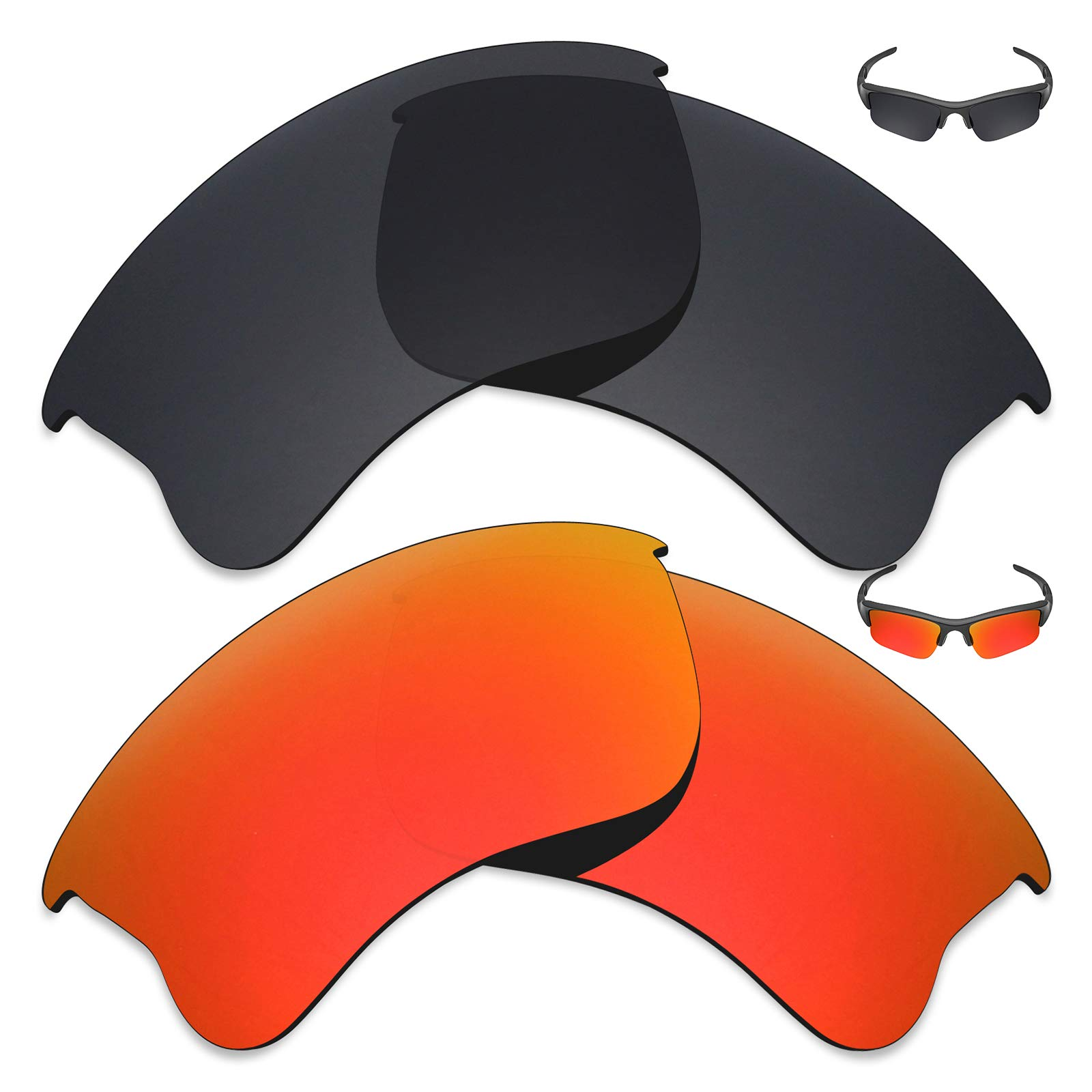 Mryok 2 Pair Polarized Replacement Lenses for Oakley Flak Jacket XLJ Sunglass - Options by Mryok