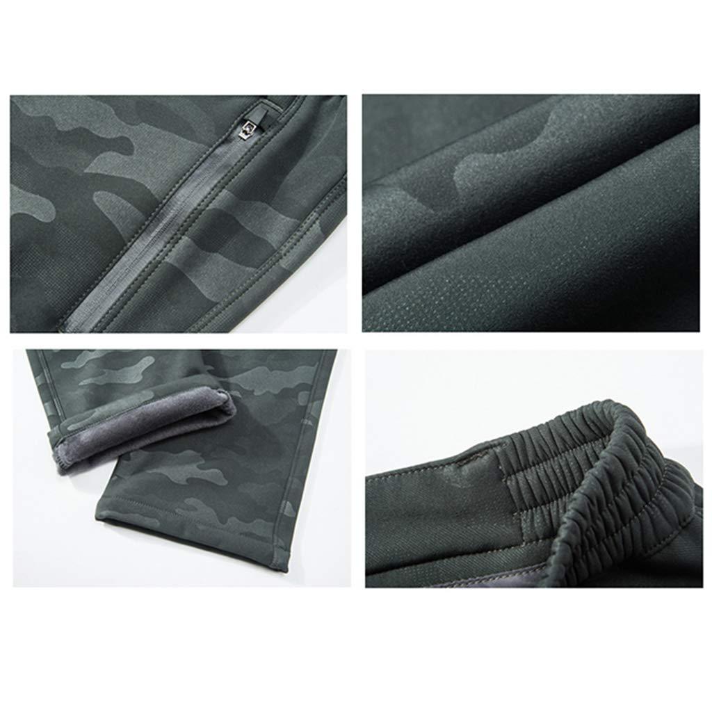 Hommes Imperm/éable Pantalon Cargo en Plein air Toison Chaud Pantalon Tactique Poids l/éger Grande Taille /Étendue Pantalon Softshell pour Voyager
