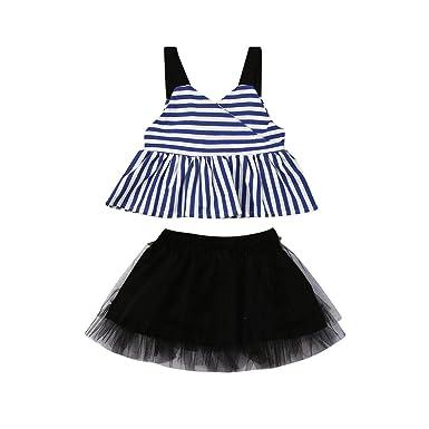 dbd71f308220 2Pcs Toddler Kids Baby Girls Outfits Set Bunny Sleeveless Tops+Tutu Skirt  Summer Clothes 6M