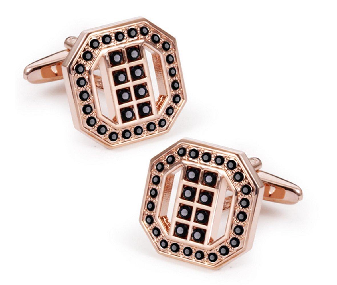 Gudeke Crystal Plated Diamond Rhinestone Gem Cufflinks Cristal Plaqué diamant strass Boutons de manchette