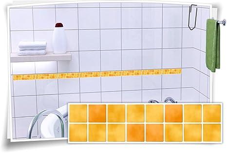 Fliesenaufkleber Fliesenbordüre Bordüre Mosaik Bunt Kachel Aufkleber FB5