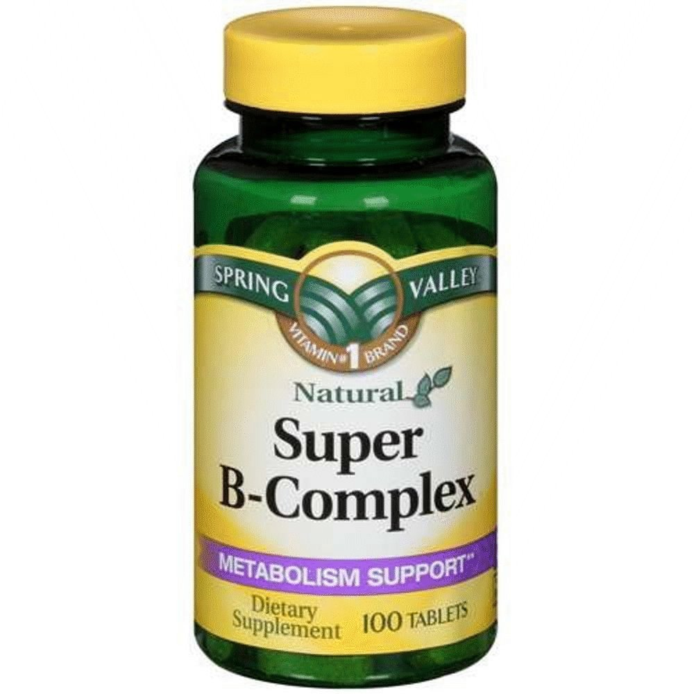 Spring Valley Super B-Complex, Metabolism Support, 100 Tablets