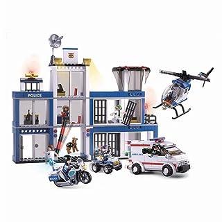 SlubanKids Creative Building Blocks Set   Imaginative Indoor Games Toys for Kids   Mega SWAT Set, Police Set, Car, Jeep and More (Police Set 1)