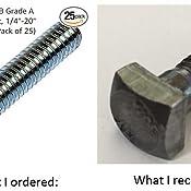 Small Parts FSC3412SHB Grade A Steel Square Head Bolt 3//4-10 Thread Size 12 Long 3//4-10 Thread Size 12 Long Fastcom Supply