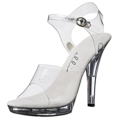 f645b66958c3f0 Summitfashions 5 Inch Women s Sexy Clear Shoe Casual High Heel Sandal Mini  Platform Size  5