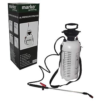 8L Litre Manual Pressure Sprayer Bottle Knapsack Spray Weed Killer Garden LTR