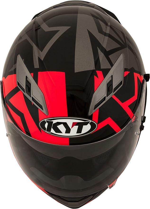 Amazon.es: KYT casco Moto Cross off-road Falcon, Faster Red, talla M 57 - 58 cm