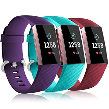 Maledan Replacement for Fitbit Charge 3 Bands Women Men Large Small,  Breathable Soft Strap Waterproof Accessories Band Compatible Fitbit Charge  3 &