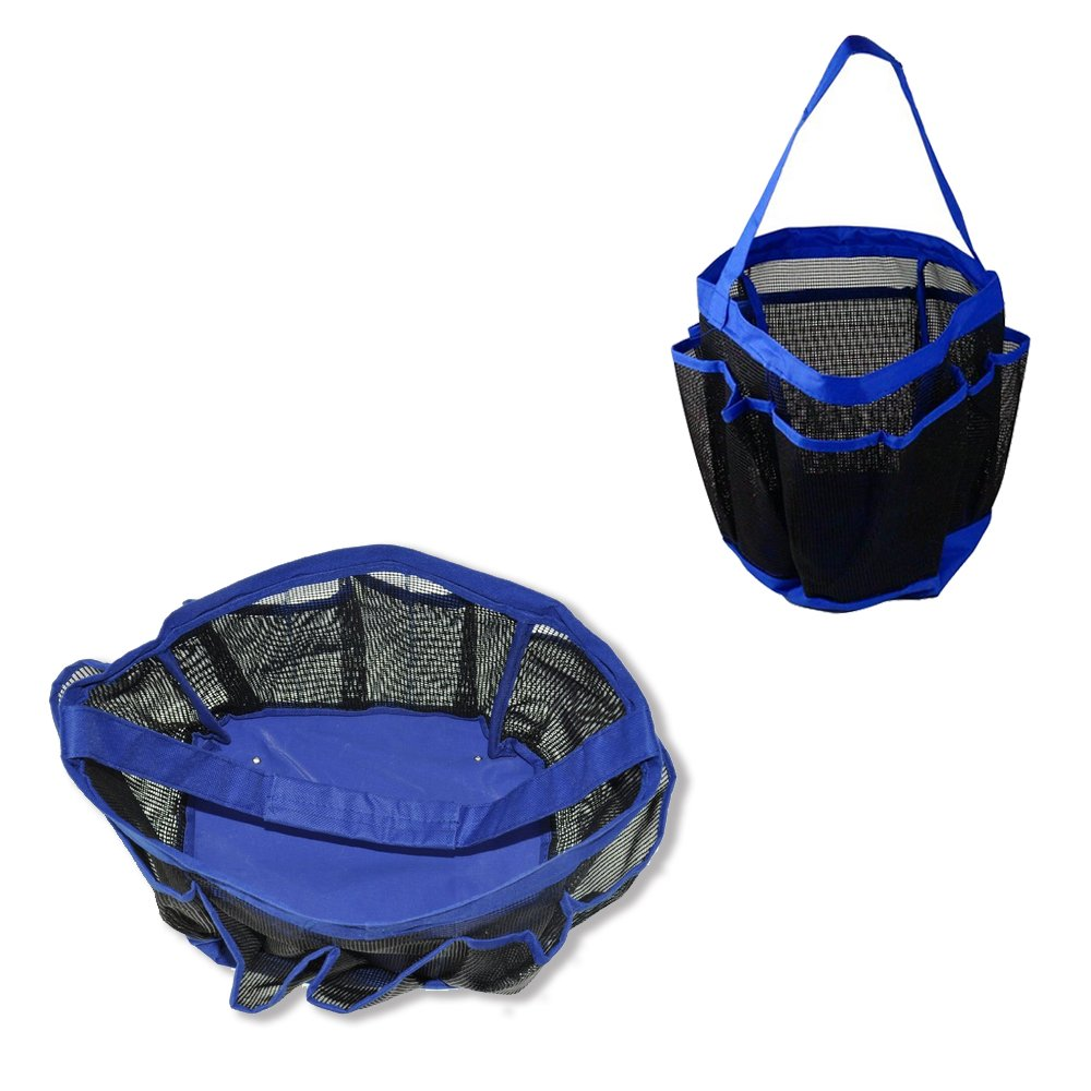Amazon.com: Portable Collapsible Shower Tote with 9 Pocket Storage ...