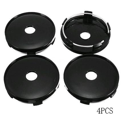 Refaxi 4pcs Universal Car Wheel Hubs Center Caps Covers No Badge Emblem Silver 63mm*58mm