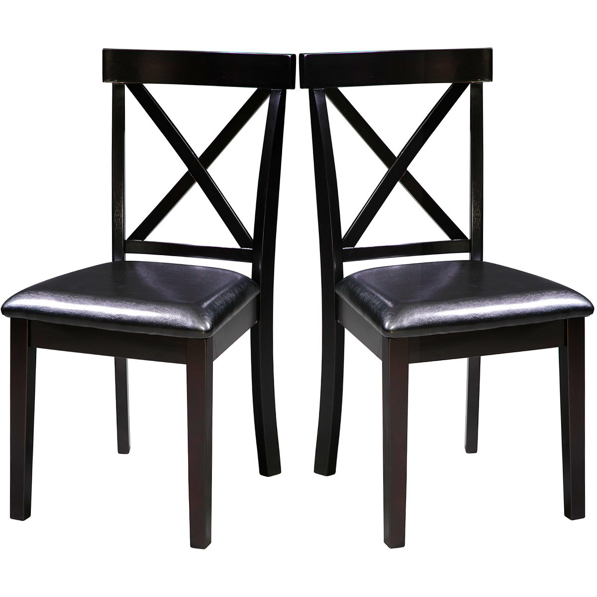 Harper Bright Design Wood Dining Chair Dining Room Side Chair, Set of 2 (X-Back)
