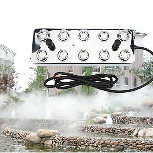 3500-5000ML/H UMM-10 10 Head Ultrasonic Mist Maker Fogger Humidifier Greenhouse Aeromist Hydroponic