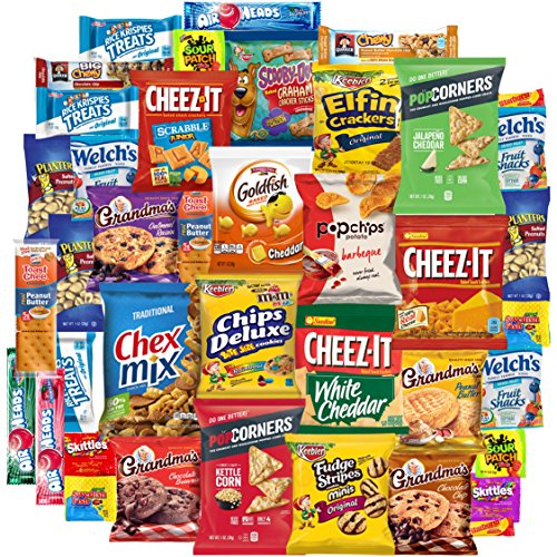 Vending Package - Mix Set of Snacks, Chips, Cookies, Candies and Crackers Care Package, Good Mix of Treats for Everybody (40 Count)