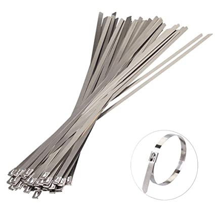"Amazon com: IronBuddy Stainless Steel Zip Ties 6"" Stainless"