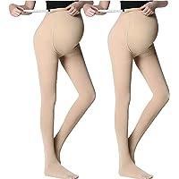 LOVELYBOBO 2 Pack Medias Invernales Premama Panty 100 Den para Futura Mama Pantimedias para Mujeres embarazadas Leggings