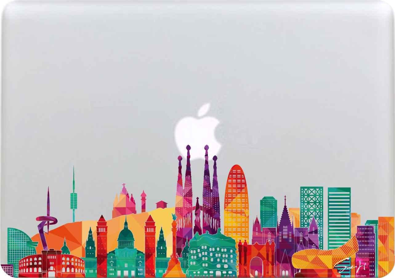 Stadt 1 MacBook 13 Air//Pro//Retina Aufkleber Sticker Selbstklebendes Vinyl Abziehbild Skin Decal WI-01