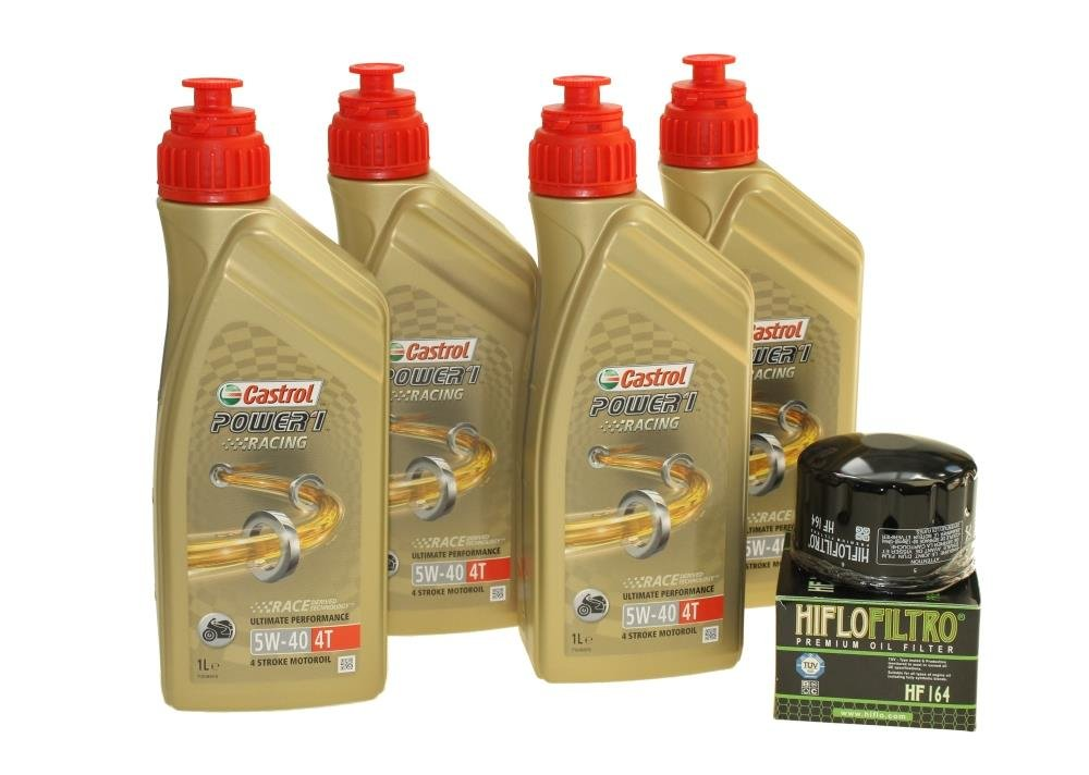 Cambio de aceite Set 4 litros Castrol SAE 5 W-40 Power 1 Racing 4T ...