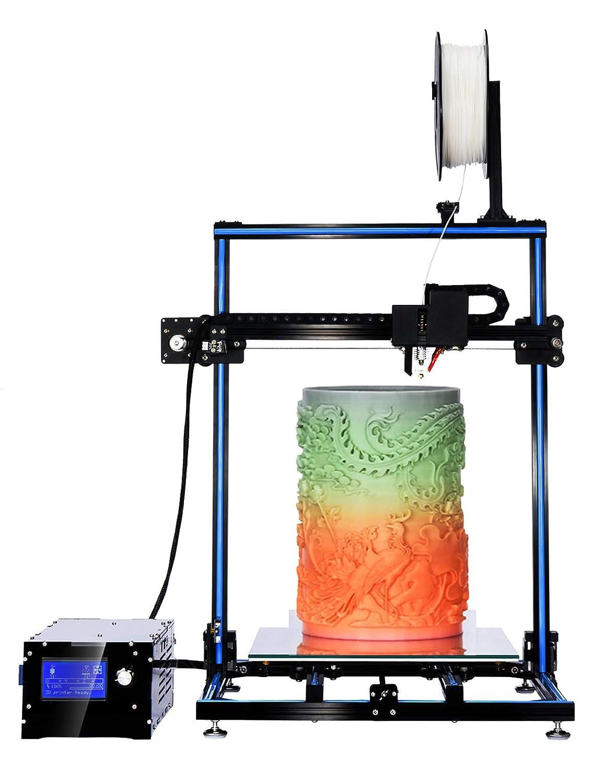 ADIMLab Stampante 3D Assemblata 3d Printer Gantry I3 Dimensione di stampa 3D 310X310X410 con scatola di controllo del letto di calore Vetro letto PLA