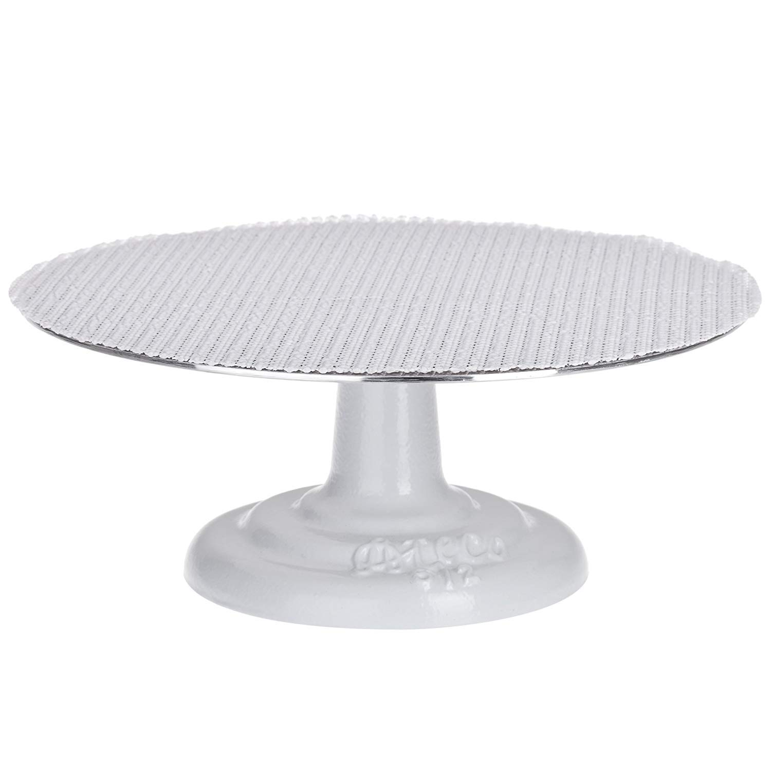 Ateco 612 Pb Revolving Cake Decorating Stand Aluminum Turntable And Cast Iron Base With Non Slip Pad 12 Inch