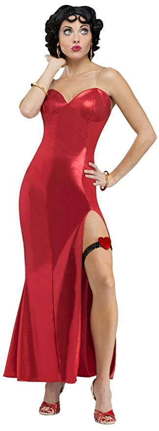 1940s Costumes- WW2, Nurse, Pinup, Rosie the Riveter Fun World Costumes Womens Betty Boop (Gown) Adult Costume $61.40 AT vintagedancer.com