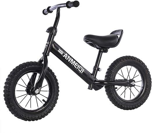 Y-Bikeee Bicicleta De Equilibrio con 2 Ruedas, Bicicleta Sin Pedales para Niños De 3 A 6 Años De Edad, Ayude A Su Bebé A Mejorar La Fuerza Y El Equilibrio/Asiento Cómodo,Black: Amazon.es: