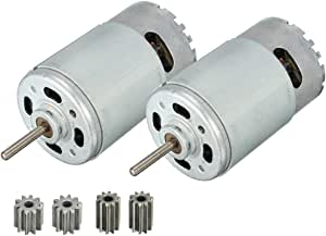 LinkePow 550 24V Motor 30000RPM High Performance, 2pcs 550 24 Volt for Powered Wheel Ride On Car Gearbox