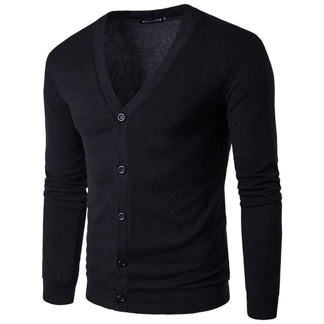 2017 Spring Summer New Men's Casual Sweater City Fashion V Collar Long Sleeved Cardigan Single-breasted Sweater