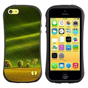 Suave TPU GEL Carcasa Funda Silicona Blando Estuche Caso de protección (para) Apple Iphone 5C / CECELL Phone case / / Summer Field Trees Nature Sun /